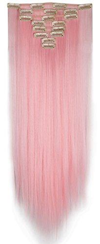 s-noiliter-extensions-de-cheveux-tout-droit-hair-couleur-rose-clair-extensions-a-clip-longueur-66-cm