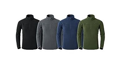 Tofern Atmungsaktive Warme Herren Stehkragen Fleece Pullover Fleece Shirt für Sport Outdoor Freizeit von NatureHike - Outdoor Shop