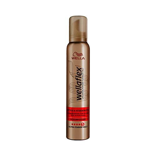 Wella Wellaflex Style & Hitzeschutz Schaumfestiger mit Hitze kreierten Styles, 6er Pack (6 x 200 ml)