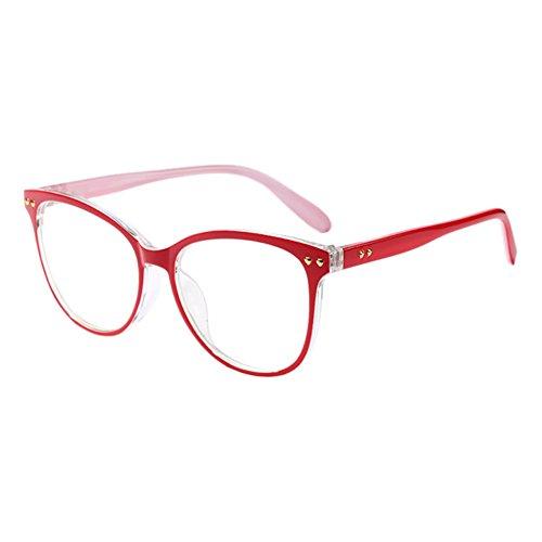 Hzjundasi Damen Oversized Persönlichkeit Oval Rahmen Optical Brillen Vintage Korean Voller Rahmen Klare Linse Glasses UV400 Nicht-Verschreibung Goggles
