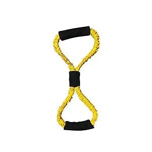 Oyamihin Widerstandsbänder Stretchseil elastisches Spannseil Expander für Sport Fitness Gürtel Gesundheitspflege Arm Sportgeräte – gelb