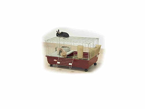 Marchioro gabbia per conigli nani e cavie tommy 72x44x39h con portafieno