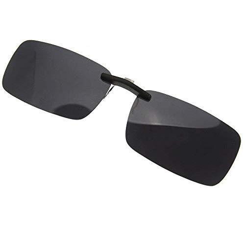 Rahmenlose polarisierte Sonnenbrille zum Aufstecken für Myopia Brille Outdoor/Auto/Angeln