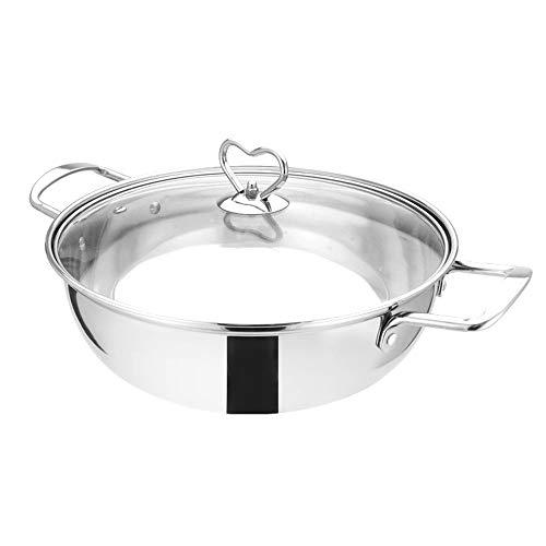 L.J.JZDY Bento Boxen Edelstahl Hot Pot Induktionsherd Home Küche Kochgeschirr Suppe Kochtöpfe for Kochfeld Gasherd Lunch Boxen (Color : Silber, Size : 28cm)