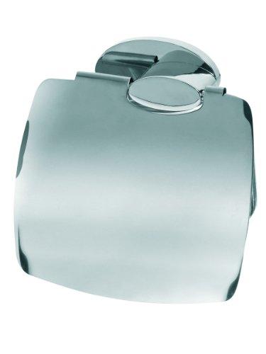 Bisk 01012 Side Toilettenpapierhalter mit Abdeckung, 13 x 4 x 13 cm, Nickel gebürstet