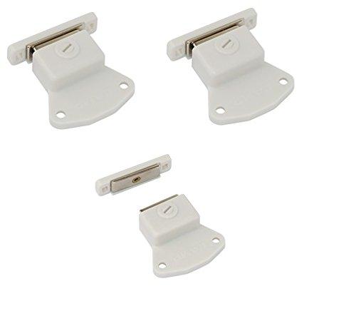 2 Stück Lissek Magnetschnäpper Schrank Türmagnet Magnet-Schnapper Möbelmagnet Türverschluß Haltemagnet Magnetverschluss -