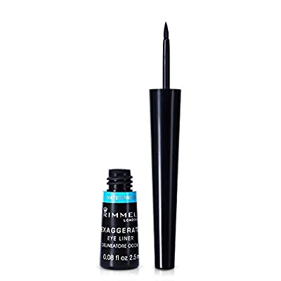 Rimmel London Exaggerate Waterproof Liquid Liner, 2.5 ml, Black from Coty