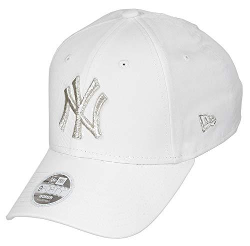 5d8548a7f New Era New York Yankees MLB Cap New Era Verstellbar 9forty Baseball Damen  Weiss Silber - One-Size