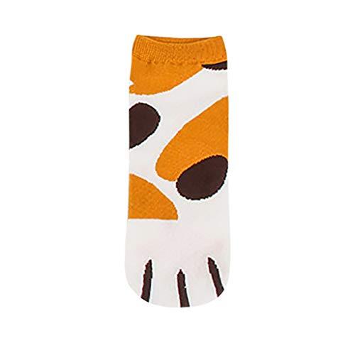 XuxMim Kitty Cat Paws Socken mit Paw Prints auf den Zehen