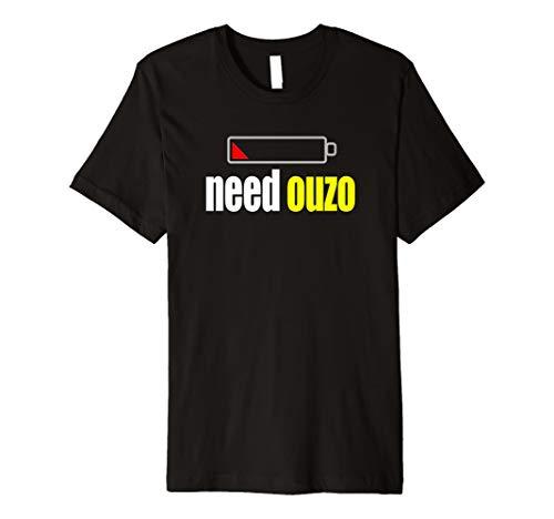 Funny Ouzo T-Shirt für Griechisch Amerikaner Griechenland Pride Tee