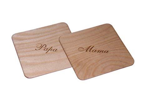 Geschenkidee - Untersetzer aus Holz - Individuell