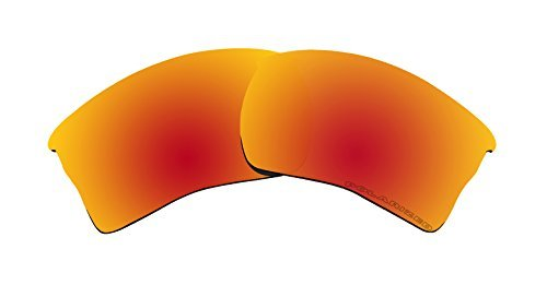 BVANQ Polarized Lenses Replacement for Oakley Quarter Jacket Sunglasses Fire Red Mirror Coatings