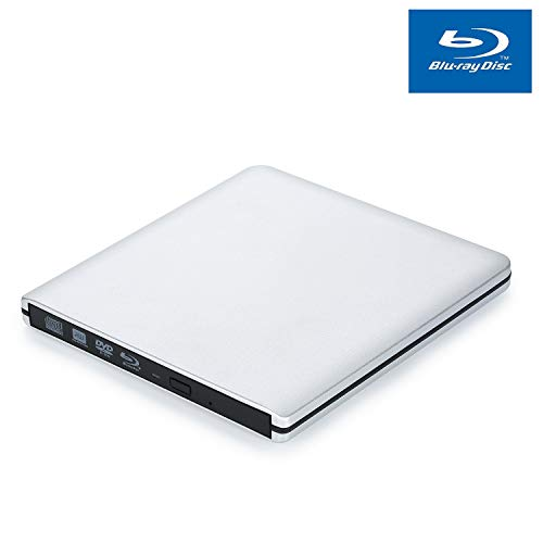 Externe Blu Ray Laufwerk Brenner, USB 3.0 Blu Ray Player für Laptop MacBook Pro Luft-Tragbare Externe USB BD CD/DVD-Laufwerk für Apple Mac Windows 10/8/7