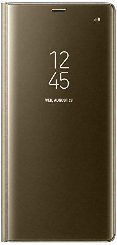 Samsung Clear View Standing Hülle EF-ZN950  für Galaxy Note8 gold (Samsung Note 4 Flip Case S-view)