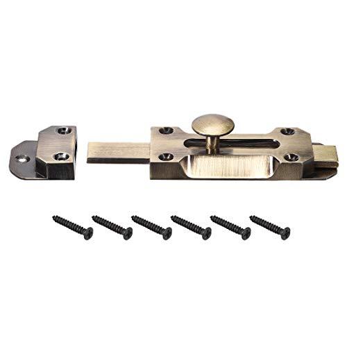 uxcell Schiebetürriegel, Antik-Zinklegierung, Sicherheitsriegel 4 Inch Bronze Tone -
