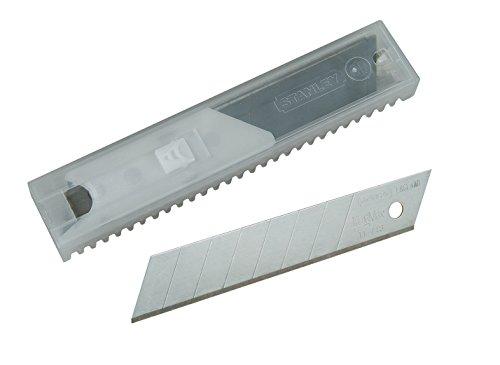 Stanley FatMax Abbrechklingen (18 mm Klingenlänge, induktionsgehärtete Klinge, 10 Stück im Spender) 2-11-718