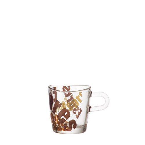 Leonardo 089345 Espressotasse - LOOP - Glas - 3 farbig - 60 ml