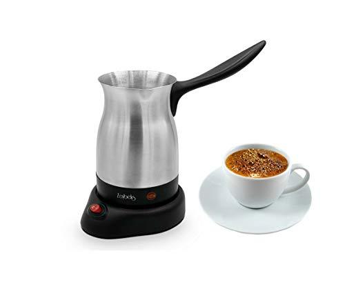 ZEYBEK Edelstahl elekt. Türkischer Mokka Kaffeemaschine Espressomaschine 0,5 L, für bis 8 Tassen, OHNE Plastikkontakt, Mokka-Maschine, Espressokocher, Cezve, Kaffeekocher