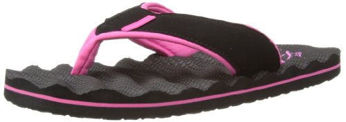 Animal Swish Ripple, Infradito donna Nero (Black)