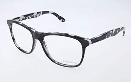 Diesel Unisex-Erwachsene DL5167 005-55-16-145 Brillengestelle, Schwarz, 55