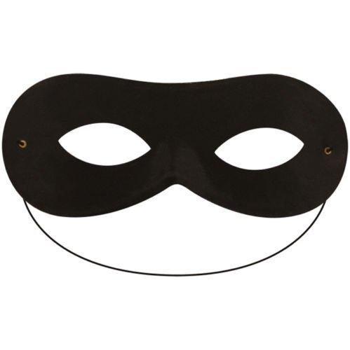 Robber Bandit Superhero Domino Eye Mask (Black)