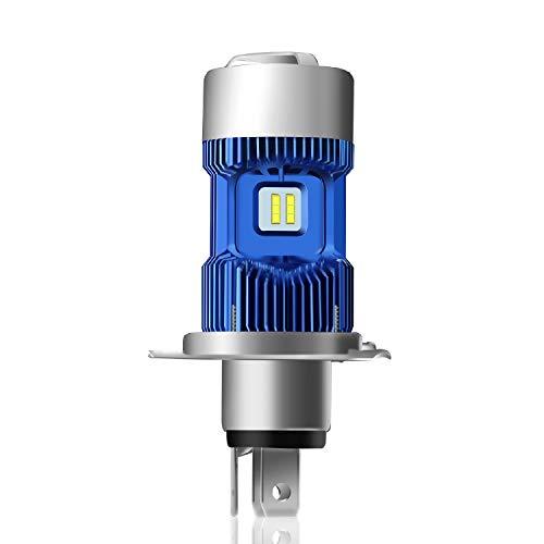 WinPower Auto/Motorrad Scheinwerferlampe H4/HS1 Xenon-Effekt Hi/Lo (35/30W) 6000K Weiß 4000Lm Ersatzlampe für Halogenlampen Superhelligkeit, 1 Birne/Pack