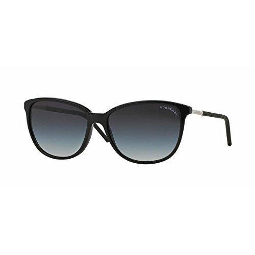 Von Burberry Für Sonnenbrille Herren (BURBERRY Unisex Sonnenbrille BE4180, Schwarz (Gestell: Schwarz, Gläser: Grau-Verlauf 30018G), Large (Herstellergröße: 57))