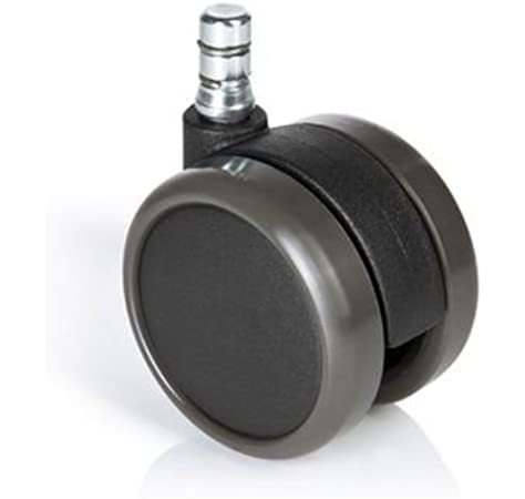 Ersatzrollen 5er Pack Büro-Stuhl-Rollen Drehstuhl Hocker ROLO EASY 10 mm 50 mm