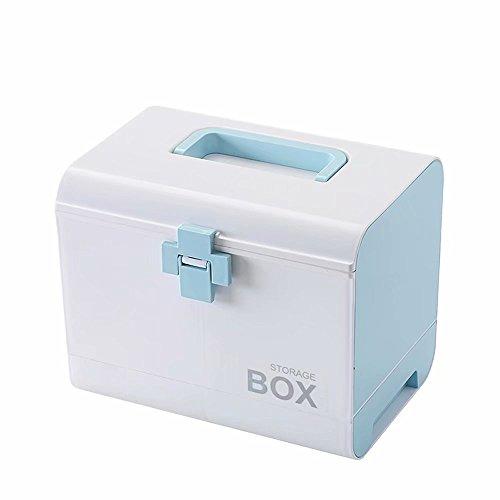 Preisvergleich Produktbild HuAma Medizin-Box Große Medizin Aufbewahrungsbox Erste-Hilfe-Kit Medizinische Box Kleine Tragbare Medizinische Box Haushalt Medizin Box Haushalt