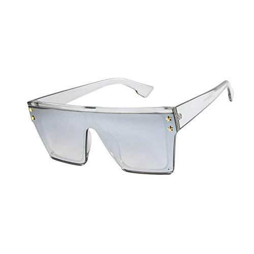 SYQA Vintage Visier Maske Sonnenbrille Frauen Männer Übergroße Winddichte Brille One Peice Big Frame Brille Sonnenbrille,C3