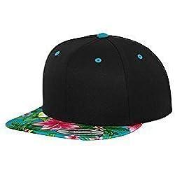 Livingstyle & Wanddesign - Gorra de béisbol - para hombre multicolor Black/Aqua