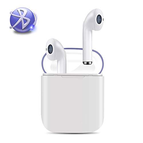 JMTKJ Auricolare Bluetooth, Cuffia Auricolare per la riduzione del Rumore delle Cuffie Auricolari Wireless, Cuffie HiFi con Microfono, Compatibile con iPhone X 8 8 Plus e Android Samsung