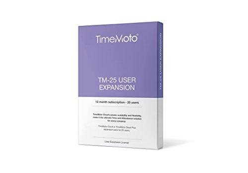 TimeMoto TM-25 - Erweiterungspaket für 25 Benutzer passend zur TimeMoto Cloud oder TimeMoto Cloud Plus