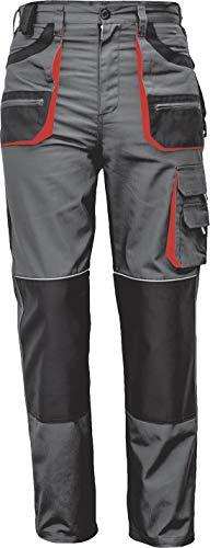 Stenso des-Emerton® - Pantaloni da Lavoro - Uomo - Grigio/Nero/Arancione - 52