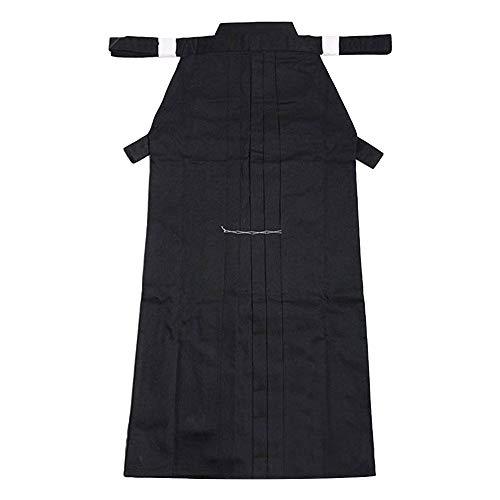 G-like Kampfsport Kendo Kenjutsu Uniform - Traditionelle Japanische Schwertkampfkunst Kostüm Karate Ninja Aikido Training Kleidung Keikogi Jacke Hakama Hose für Männer Frauen (Black, XL)