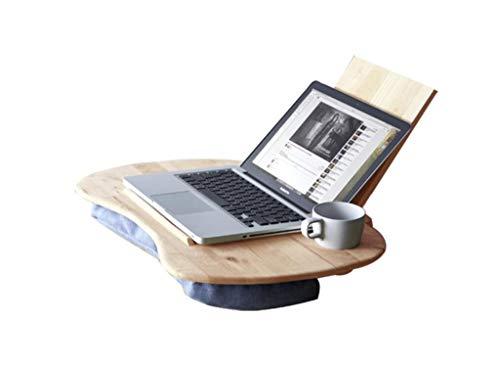Fester hölzerner Bett-Computer-Schreibtisch-Schreibtisch-Gummi-Holz-tragbarer beweglicher Tabelle Japanisch-Art Lernen Tabelle und Stuhl-einfache Moderne hölzerne Farbe ()