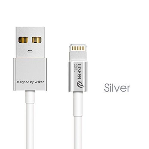 wsken MFI Apple Zertifiziert 1 Meter Metall 8 Pin Lightning auf USB Kabel Daten Sync Ladegerät Cord Draht für iPhone 5, 5S, 5 C, 6, 6Plus, iPad Air, iPad Mini, iPod Touch, unterstützt IOS 9