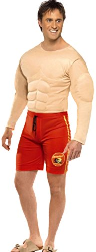 sene Baywatch Lifeguard Kostüm, L, Mehrfarbig (Lifeguard Halloween)