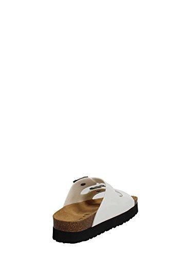 Grünland MATE CB1036 pantoufles dame blanche Birk boucles anatomique Bianco