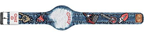 Orologio digitale unisex piccolo ZITTO JEANS STREET EDITION in silicone blu jeans COOLFIX-MINI-KI