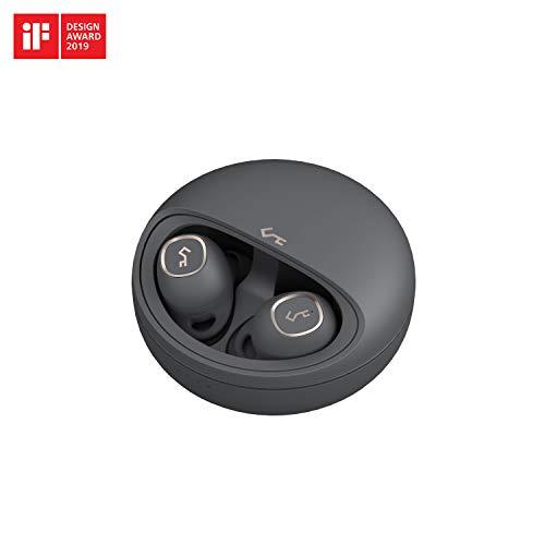 AUKEY Cuffie Bluetooth Senza Fili, Auricolari Bluetooth 5.0, 7 Ore di Riproduzione per Carica, Carica USB-C & Wireless Qi, Resistenza all'Acqua IPX5, Key Series T10