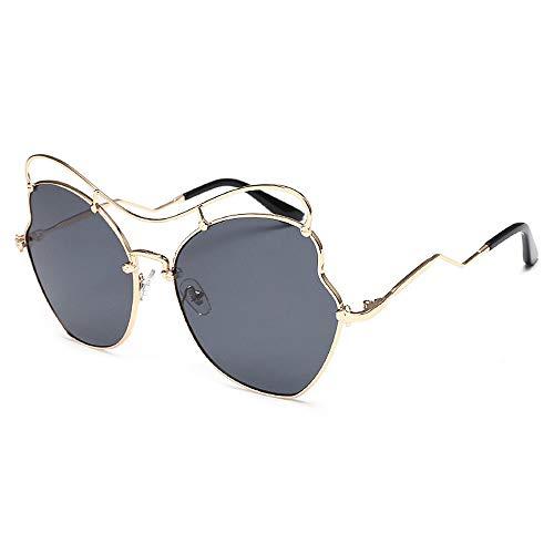 Sonnenbrillen Mode Damensonnenbrillen Zarte und unregelmäßige Sonnenbrillen Damen Metallrahmen...