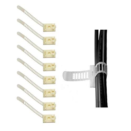 Verstellbare Kabelhalter, 3M Selbstklebende Kabelschellen, Kabelklemme für Haus, Bro, Auto, PC (20 Stück Schwarz) -