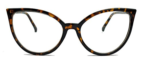 amashades Cat Eyes 50er 60er Jahre Damen Retro Brillengestell Cat Eye Nerdbrille Klarglas CN62...