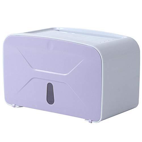 Liromantic Wasserdichte Lochfreie Toilettenpapierrolle Toilettenpapierhalter Papierhandtuchhalter Toilettenpapierhalter Rack Aufbewahrungsbox Bad Container