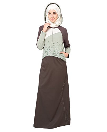 Silk Route Front Zipper Islamic Fashion Abaya Jilbab Burka