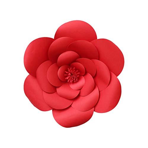 Amosfun 20cm 3D Papier Blume Wand Dekor DIY Art Decals für Party Home Hochzeit Hintergrund Dekoration (Blume Hintergrund Papier Diy)
