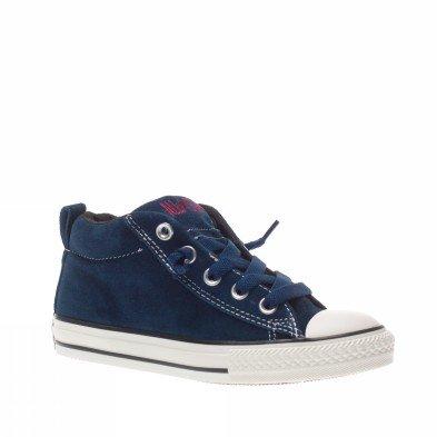 Converse All Star Street Cab Mid Suede 628739c Enfant Chaussures Bleu