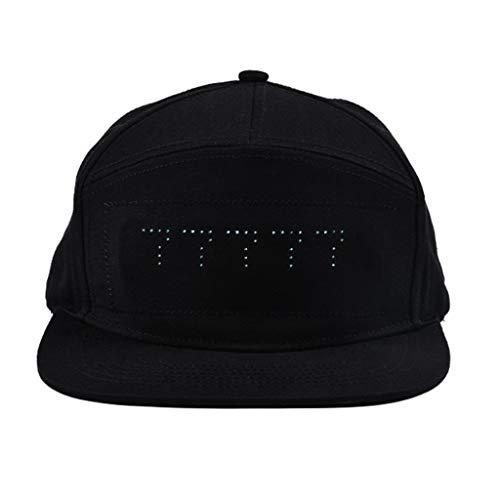 Damen Herren Cap mit LED DIY Display-Bildschirm Kappe Night Baseball Caps Outdoor Hip Hop Heiratsantrag Hut Sommer Mütze Sport Wandern Trucker Silvester Party Club Hat Angelmütze Sonnenhut