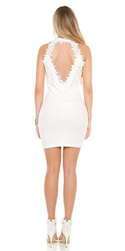 In-Stylefashion - Robe - Femme blanc Weiß M/L Weiß